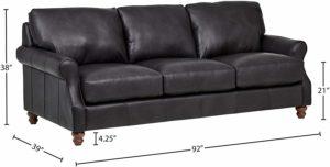 Baxton Studio Callidora Sofa Size