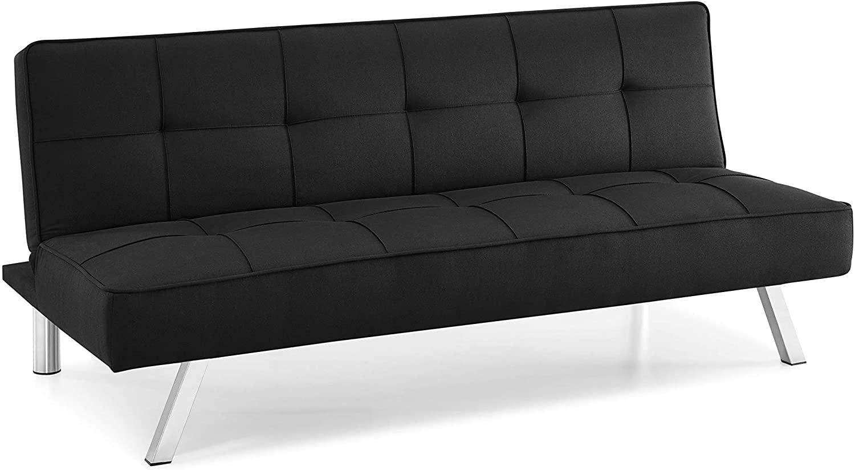 Serta Rane Convertible Sofa, Black
