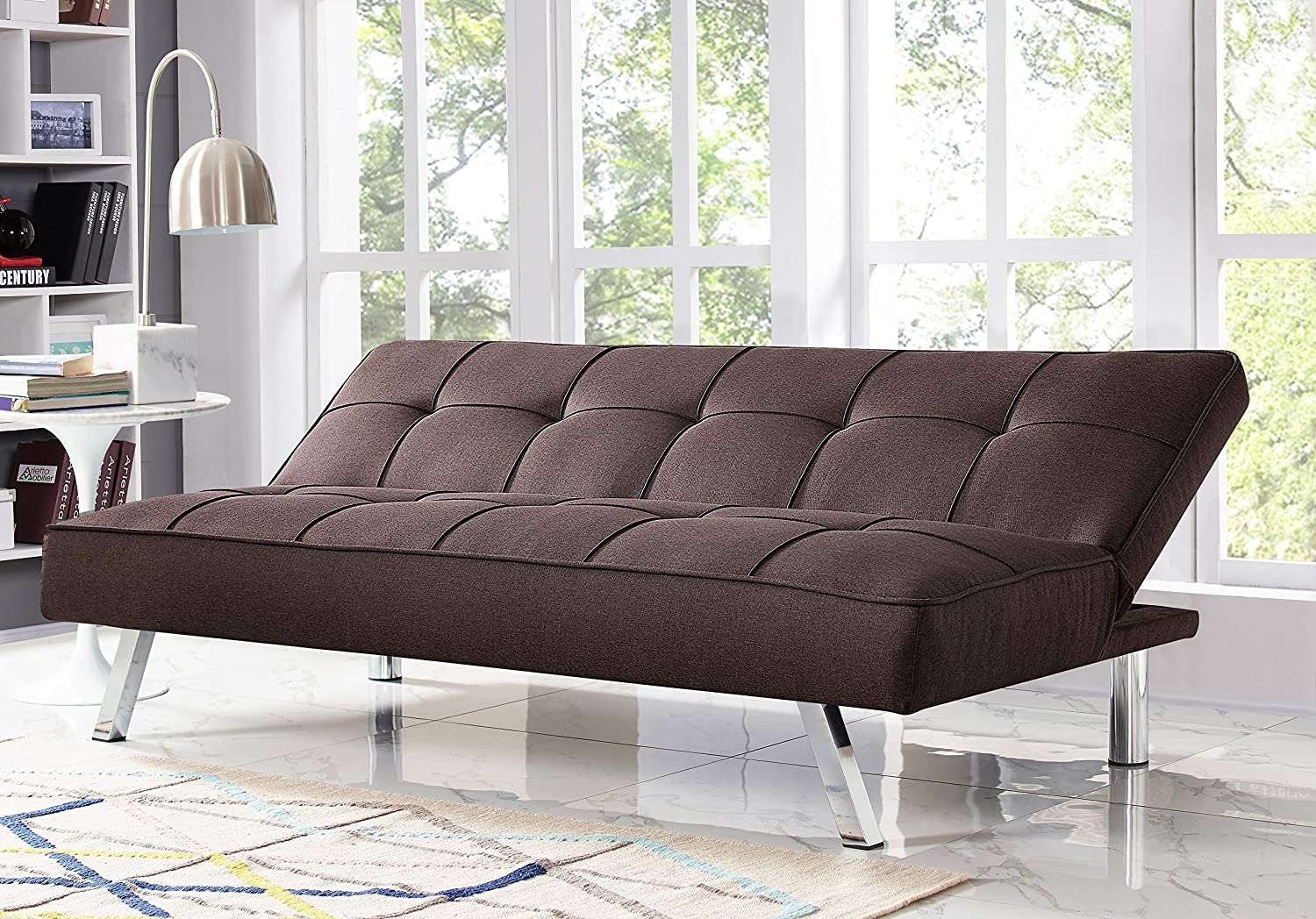 Serta Rane convertible sofa in lounge mode