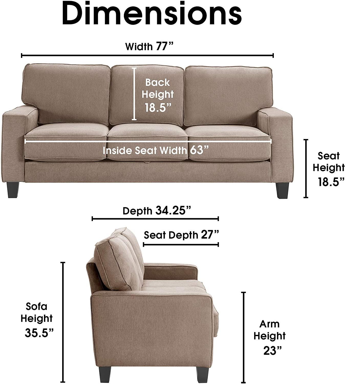 Serta Palisades Sofa Dimensions